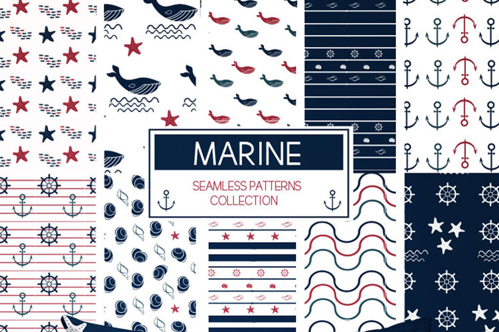 【Free】It is stylish and cool to suit anything.10 kinds of marine pattern pattern that is perfect for summer!