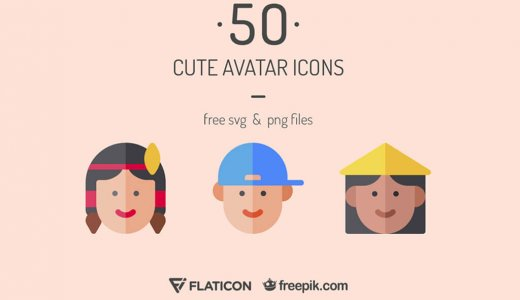 [Free commercial use available] 50 sets of cute avatar icons of flat design (character) [SVG/ PNG]