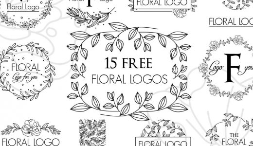 [Free material] decoration with a motif of flowers and grass, frame (frame) vector material [perfect for logo and one point]