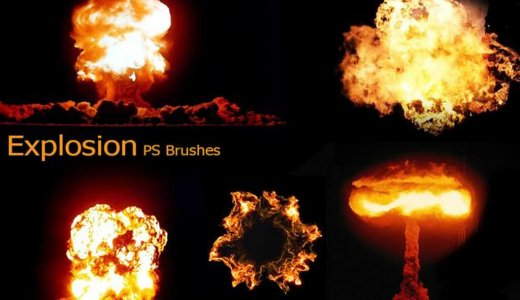 【Free】Explosion and rupture effect is easyExplosion Wind Photoshop Effect Brush 120 Species [Texture Material]