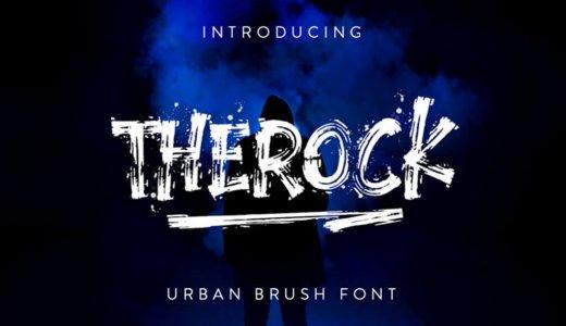 【無料/商用可】そのまま使える!筆で殴り書きしたようなクールな英字フォントThe Rock Brush Font【ロック・グラフィティ】