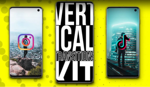 【AfterEffects】 Perfect for TikTok/InstagramFour AE transition templates for vertical smartphone videos [vertical / switching / fade-in out]
