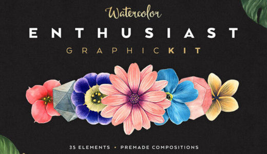 [Free commercial available] 35 kinds of watercolor pencil-style flowers and plants pastel vector material [free / pale / real]
